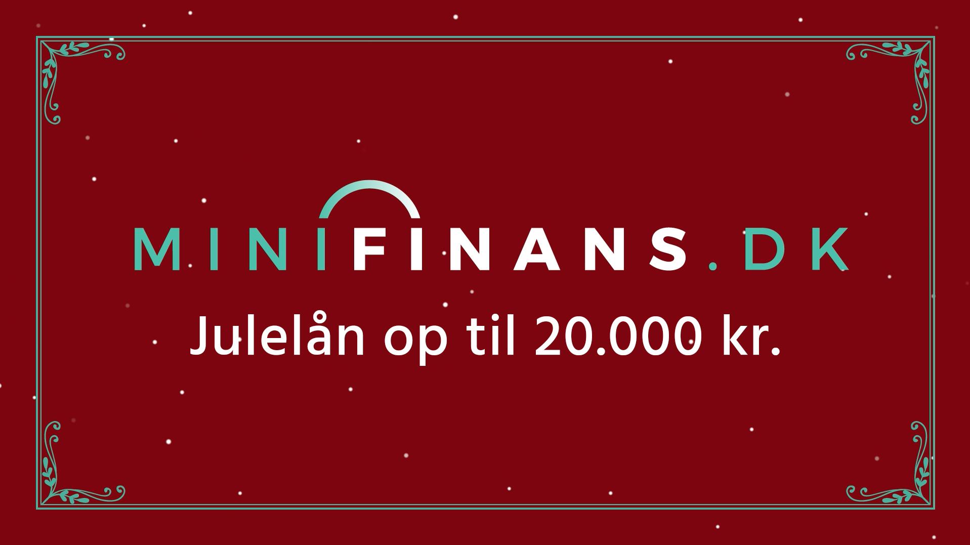 Minifinans.dk - Julelån op til 20.000 kr.
