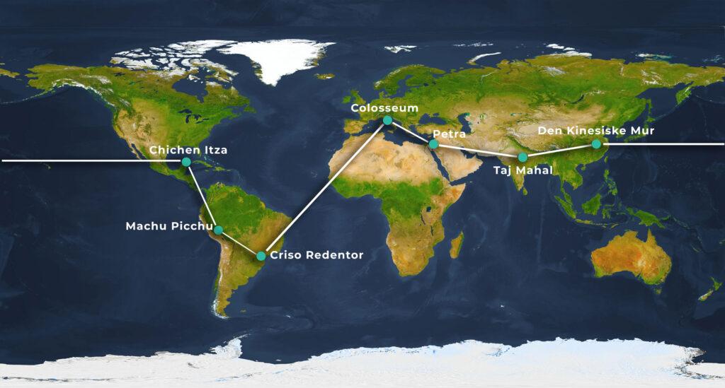 verdens 7 vidundere rute